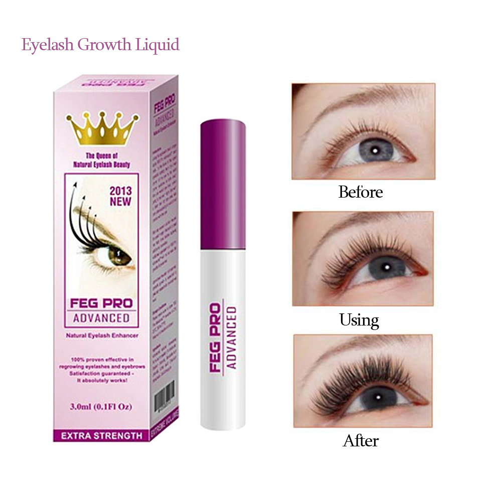 FEG Professional 3ml Eyelash Enhancer Nourishing Eyelash Serum Eyelash Growth Liquid  Lash Lift Beauty Makeup TSLM2