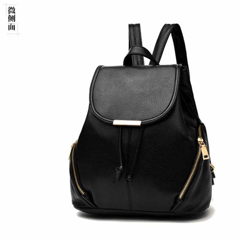 100% couro Genuíno Das Mulheres mochila 2019 Nova maré primavera e no verão nova estudantes mochila das mulheres saco de moda casual Coreano