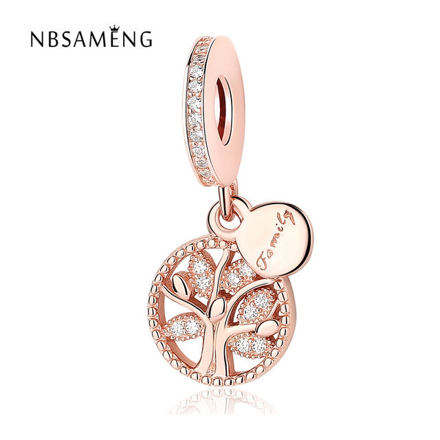 1f814c8a132c63 ... low price authentic 925 sterling silver bead rose gold family heritage  tree of life pendant fit