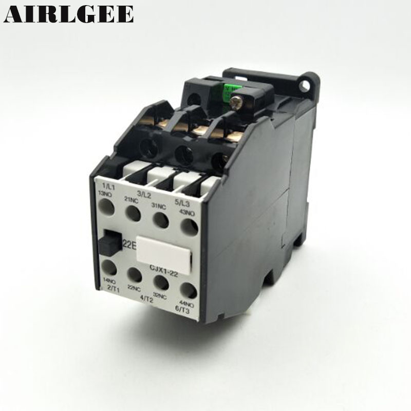CJX1-22(3TB43) 3-Phase 3-Pole 2NC+2NO 22A AC Contactor 24 36 110 220,380V Coil Voltage