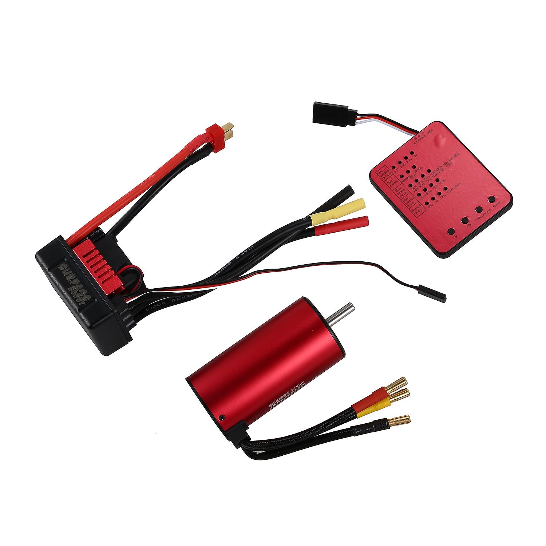 SURPASS HOBBY S3670 2650KV Sensorless Brushless Motor 120A Brushless ESC and Program Card Combo Set for