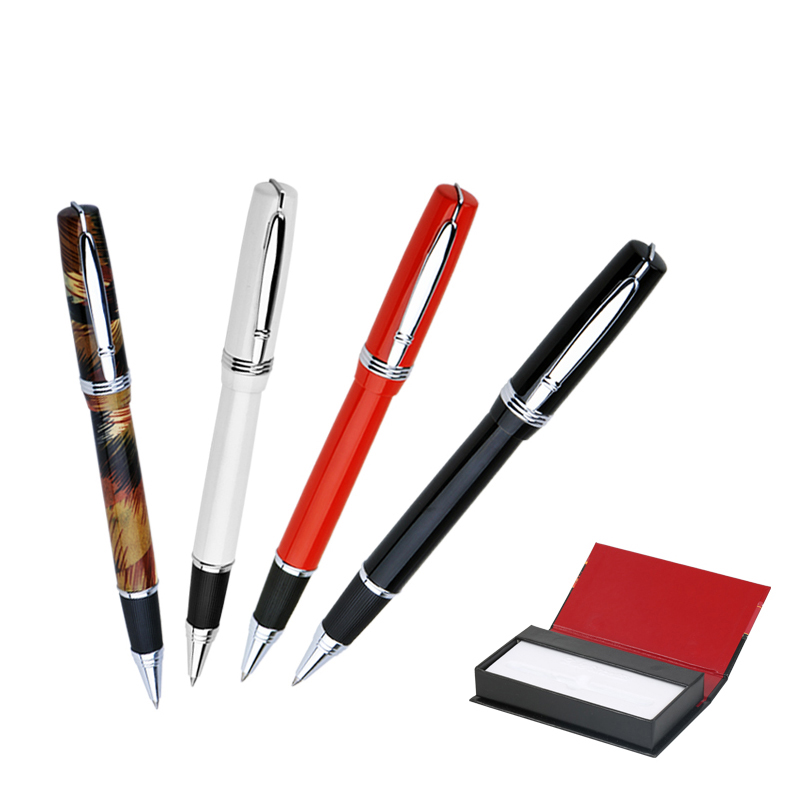 Hot Sale Duke P06 Luxury Pure Black and Silver Clip Rollerball Pen with Original Gift Case 0.7mm Metal Ballpoint Pens for Gift hot sale writing stationery duke high quality black and silver rollerball pen with original gift case 0 7mm metal ballpoint pens