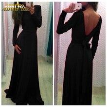 Parti Için 2016 Yeni Hanım Gece Elbiseler Seksi Backless Tam Kollu Zarif Clubbing Bayanlar Elbise Vestido De Festa Parasız Kargo