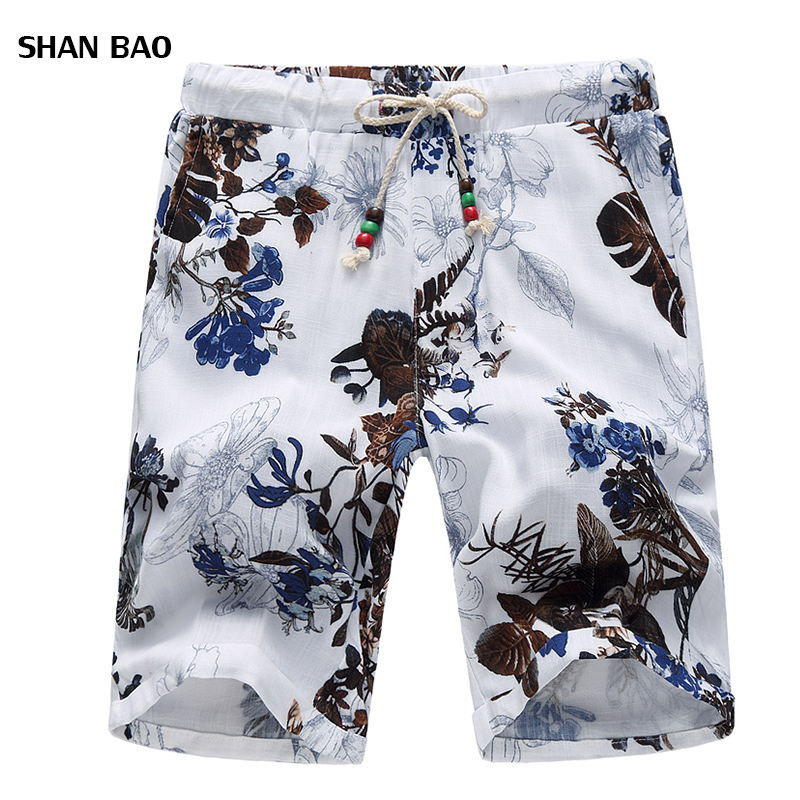 Plus 6XL Shorts Men 2018 New Fashion Men Shorts Chinese Style Elastic Waist Floral Board Shorts Men High Quality Short Homme