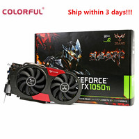 Original Colorful iGame 1050Ti Gaming Graphics Card 4GB 128bit DDR5 6Pin Computer Hardware Video Card 7000MHz with Cooler Fan