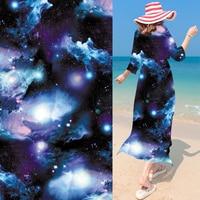 Starry Fashion Trend boundless universe Chiffon Fabric Yarn Digital printing fabric DIY Cloth/curtain Fabric Material