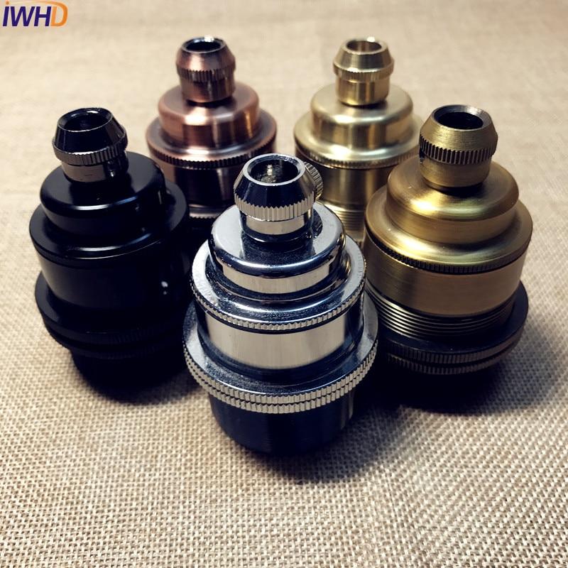 Portalampara Copper Vintage E27 Lamp Holder Edison Soquete Douille E27 Socket Vintage Light Socket Industrial Lampholder Base