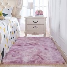 Alfombra de suelo para dormitorio tapete de tamaño largo para decoración de sala de estar, sofá, alfombra tipo Tatami, Color teñido