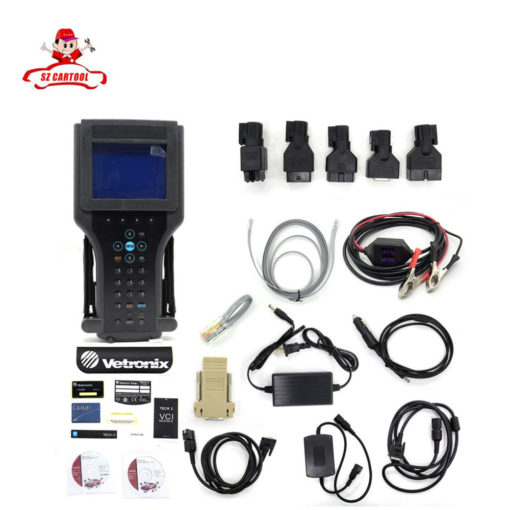 Top selling G M TECH2 Full Set Support 6 Softwares(for G M/OPEL/SAAB/ISUZU/SUZUKI/HOLDEN) G M Tech 2 diagnostic tool Free Ship