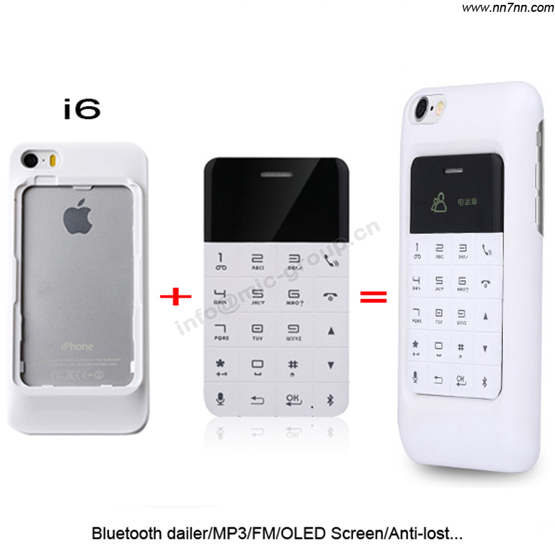 Anica A11 Russian Bluetooth dialer and answer calls Anti lost MP3 FM OLED screen mini Ultrathin