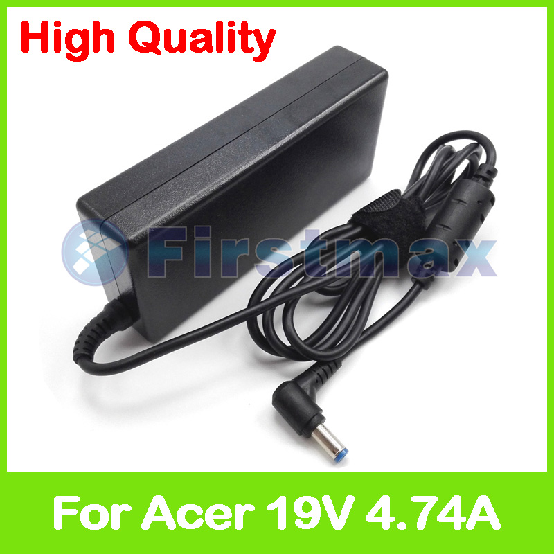 19V 4.74A 90W laptop charger ac power adapter for Acer Extensa 5630E <font><b>5630G</b></font> 5630Z 5635G 5635Z 5735G 5920 6535 6600 6700Z 6702 image