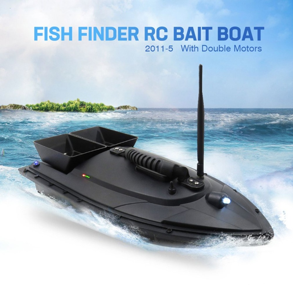 Flytec 2011-5 Fishing Tool Smart RC Bait Boat Toy Fish Finder Fish Boat Remote Control Fishing Bait Boat Ship Speedboat RC Toys mini fast electric fishing bait boat 300m remote control 500g lure fish finder feeder boat usb rechargeable 8hours 9600mah