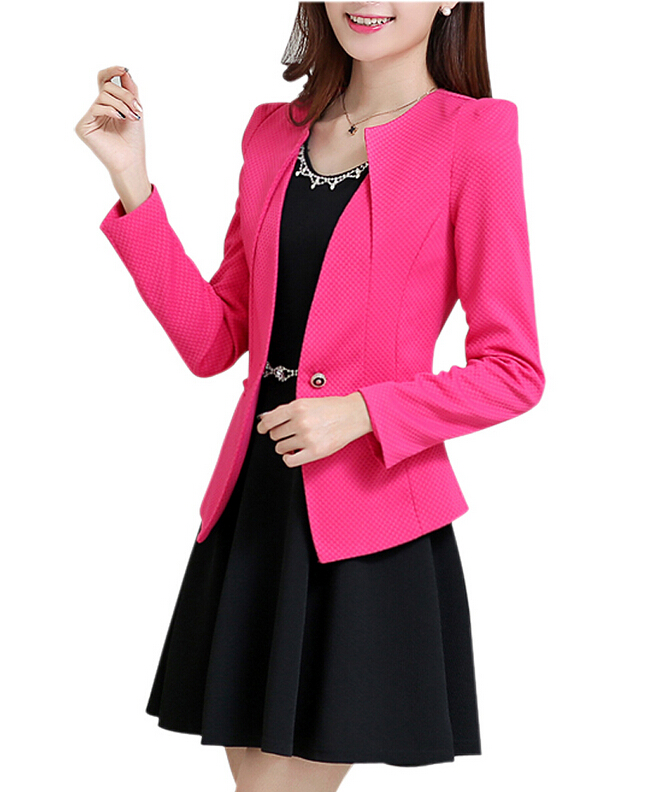 Imc новая мода весна женщины тонкий блейзер feminino пальто случайные куртка с длинным рукавом одна кнопка костюм белый дамы пиджаки работа носить