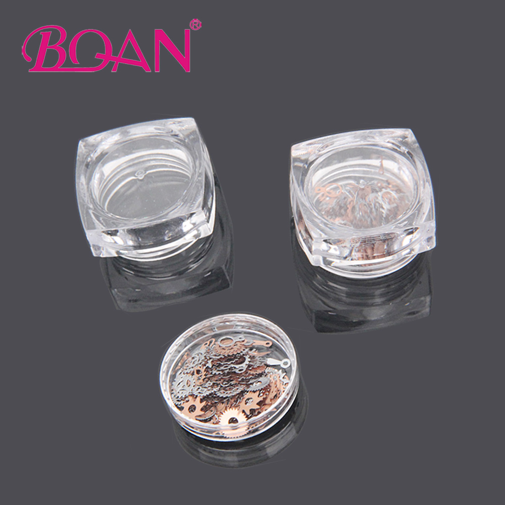 BQAN 1 Box Ultra-Thin Nail Studs 3D Nail Decoration Time Wheel Steampunk Style Gold Silver Metal Manicure DIY Accessories rose gold silver black nail beads caviar studs multi size diy 3d nail art uv gel lacquer decoration in wheel manicure accessorie