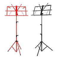 1pcs Colourful Choose Sheet Folding Music Stand Metal Tripod Stand Holder With Soft Case With Carrying