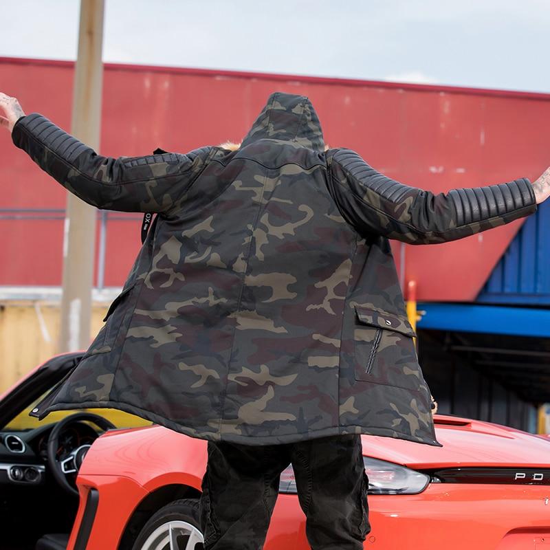 Chaud Noir Casual Coupe Mâle À L'ue Hiver vent Coton Parka Taille Et army De Camouflage Long Manteau Veste Épais Capuchon Hommes Militaire Green Fourrure qSaP4S1OwX