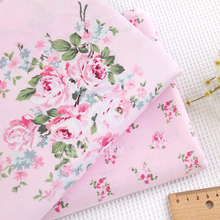 2016 Free Shipping Warp Knitting Flower Printed Cotton Fabric Meter Baby Patchwork Acessorios Costura Kids Bedding 160x100cm