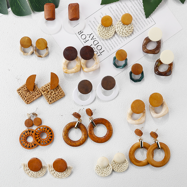 Handmade - Wood Earrings 2
