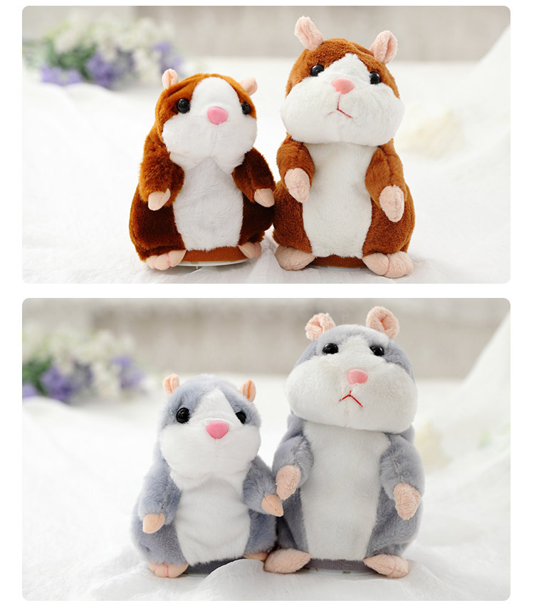 2018 Talking Hamster Mouse Plush Toy Hot Cute Speak Talking Sound Record Hamster Educational Toy for Children Gift Q001