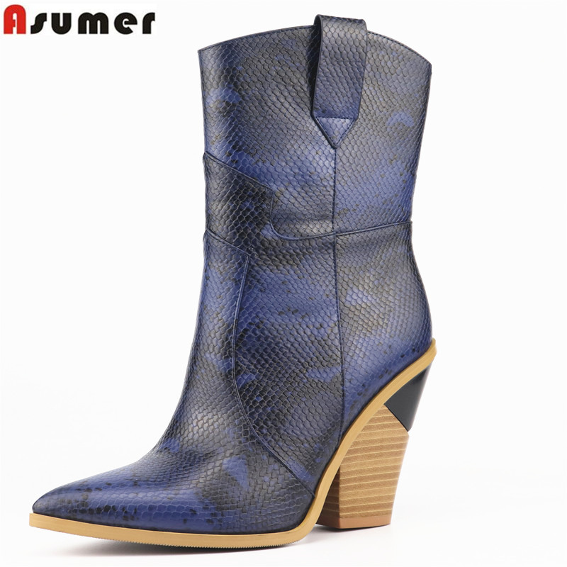 ASUMER plus size 34-46 fahsion mid calf boots women pointed toe wedges shoes classic chelsea boots comfortable autumn boots ASUMER plus size 34-46 fahsion mid calf boots women pointed toe wedges shoes classic chelsea boots comfortable autumn boots