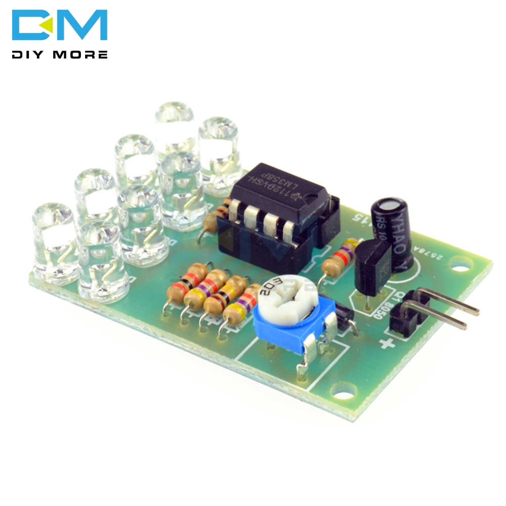 8pcs 5MM Bright Blue LED LM358 Breathe Light Lamp Flicker Flashing Lamp Parts Suite Electronic Components Supplies Module Board
