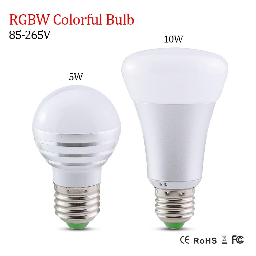Lampadine Led E14.Us 3 45 40 Off Newest Lampadine Led E27 5w 10w Rgbw Led Light Bulb E14 Smart Lighting Lamp Color Dimmable For Home Hotel Ktv Bar Decor 85 265v In