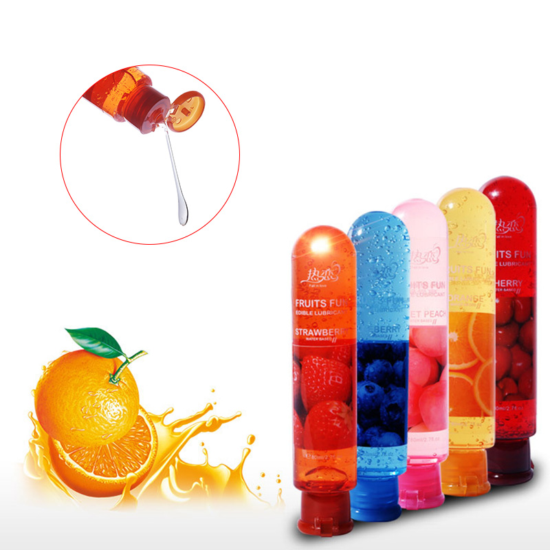 1 Pcs Sex Fruit Oil Strawberry Flavor Lover Water Soluble Body Lubricant Oil Sex Lube Oral 80ml SN-Hot(China)