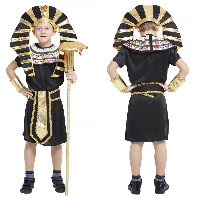 2018 Halloween Sexy Party Woman Ancient Egypt  Clothing Egyptian Children girl Cosplay Costumes Polyester Clothes 4-12year