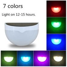 RGB Solar Lights Garden Light Sensor Lamp Motion PIR Human Body Detect Lighting Outdoor Waterproof Wall Lamp 7 Colors Changeable