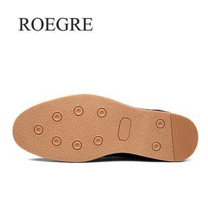 Image 5 - 2019 جديد الرجال أكسفورد جلد طبيعي فستان أحذية البروغ الدانتيل يصل حذاء كاجوال الذكور الأحذية المتسكعون الرجال حجم كبير 39 45