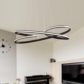 Moderno colgante led luces para Comedor Cocina habitación de negro ...