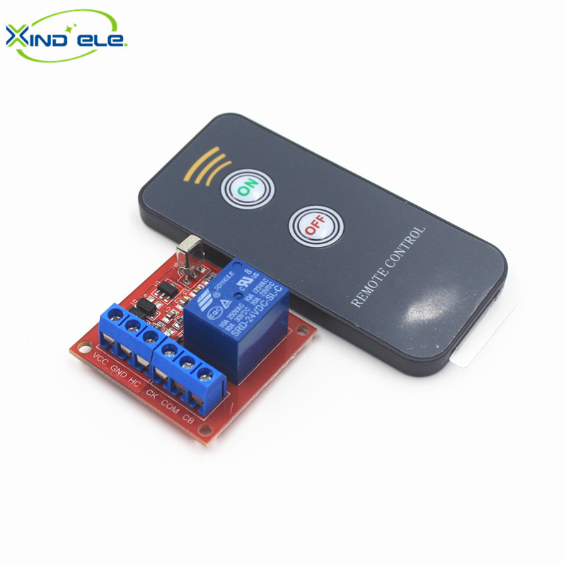 XIND ELE 1CH 24V DC IR Remote Switch Support Connect Button Switch +2-key Control For Home Light Garage Door #IR24-1SMM+PM2#