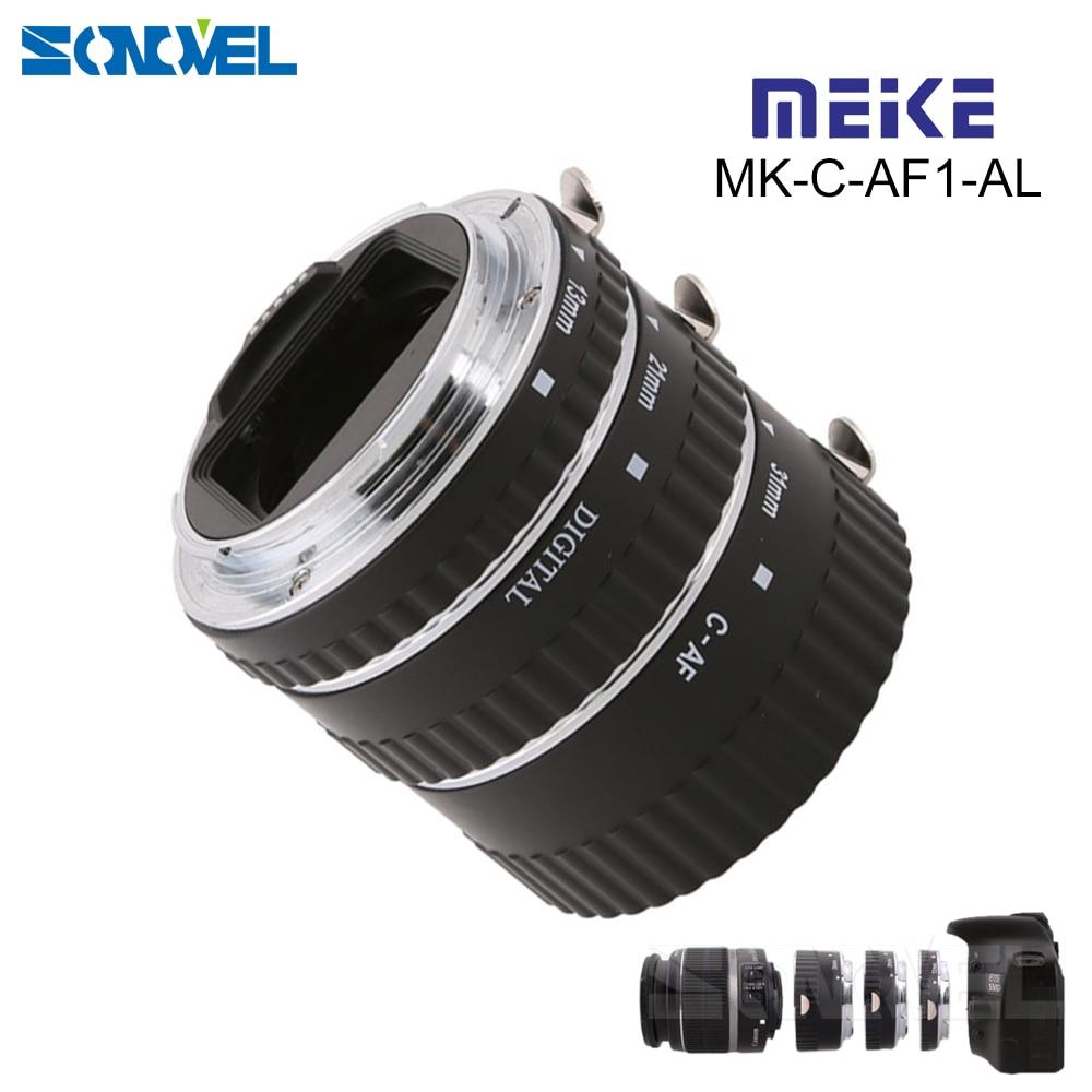 цена на Meike MK-C-AF1-AL Metal Autofocus AF Confirm Macro Extension Tube for Canon EOS For 7D 550D 1100D 450D 50D 650D 700D 100D 70D