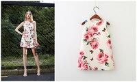 Mother And Daughter Dress 2018 New Girl Mother Vest Skirt Flower Sleeveless Printed Dress Princess Skirt A Line Skirt 2 9 Ye