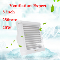 Glass window ventilation fan 4/6/8 inch mute powerful bathroom toilet wall waterproof exhaust fan