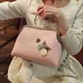 Handmade Diy Pink Coffee Butterflies Bracelet Mouth Gold Package Day Clutch Fabric Material Kit Set Women's Handbag Shoulder Bag