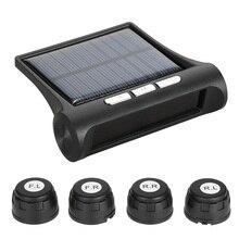 Универсальный беспроводной солнечный автомобиль TPMS шин давление мониторинга системы бар/PSI блок с 4 внутренних/внешних датчиков опционально