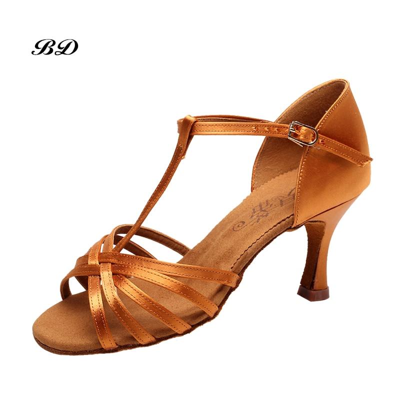 Sneakers Chaussures De Danse Salle De Bal Femmes Latine Chaussures Fille résistant à l'usure Non-glissement Peau de Vache Fond Mou SALSA Ventes Mondiales Satin Dentelle