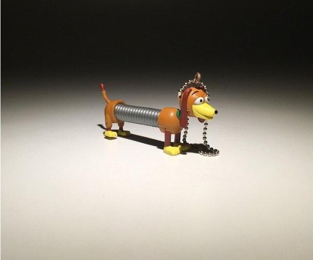 6 cm Toy Story Slinky Dog PVC llavero muñeca cachorro perro modelo colgante  de juguete e8da125da97