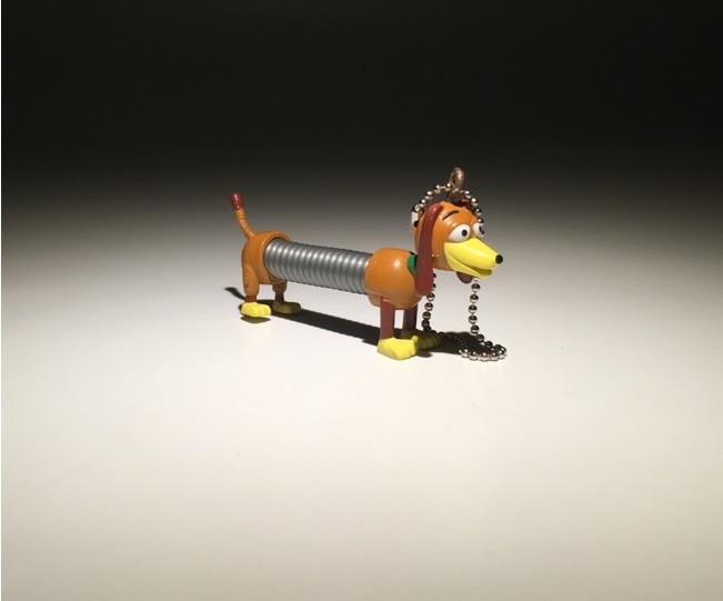 6cm Toy Story Slinky Dog PVC Keychain Doll Puppy Dog Model Toy Pendant ernie ball extra slinky nickel wound струны для электрической гитары 8 38