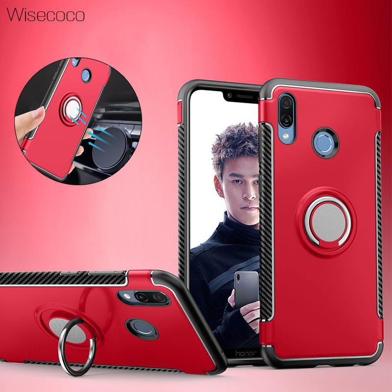 Shockproof Case For Huawei <font><b>Honor</b></font> <font><b>8x</b></font> Max 8 9 10 Lite V10 Play Note 10 Magnetic Car Holder Hard PC Stand Cover honor10 7x carcasa image