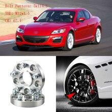 """4 sztuk 1 """"koła dystansowe adaptery 5 Lug 5x4.5""""/5x114.3 12x1.5 szpilki dla Mazda RX 8 2003 +"""