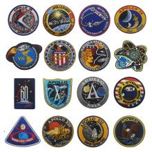APOLLO Missions Embroidery Patches Astronaut Spacecraft Emblems Collage USA Tactical Morale Patch Outdoor Armband Badge Stickers