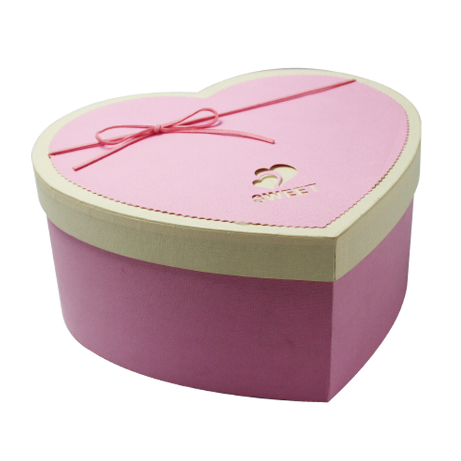 Heart Shape Paper Boxes Template Gift Box For Chocolate