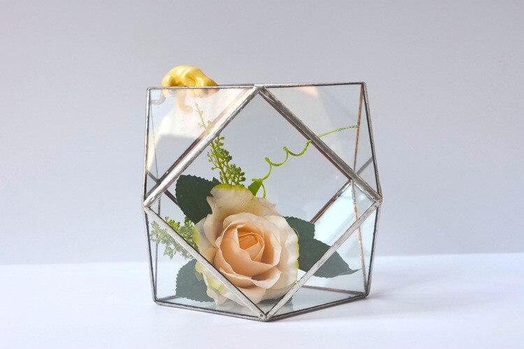 Magique Tetrakaidecahedron géométrique bureau verre prisme Air plante table boîte planteur Pot de fleur Succulent verre Terrarium