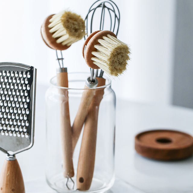Natural Beech PP Cleaning Wooden Brush 4