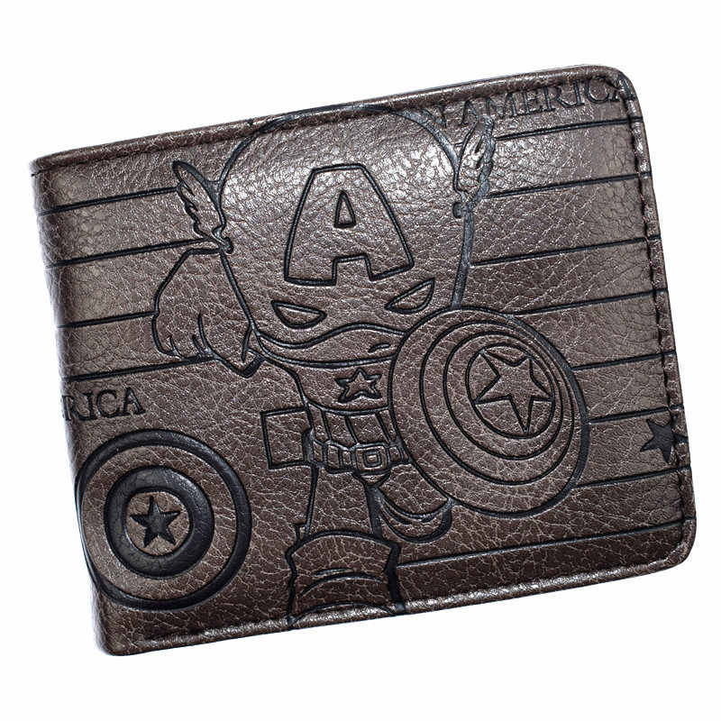 FVIP New Marvel Avengers Captain America Shield Wallet Deadpool Hulk Multi-card Bit Design Wallet Coin Pocket Purse