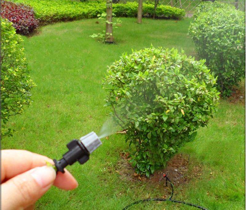 HTB1 bg8LVXXXXb2XVXXq6xXFXXXC - 1 Sets Fog Nozzles irrigation system - Automatic Watering 10m Garden hose Spray head with 4/7mm tee and connector
