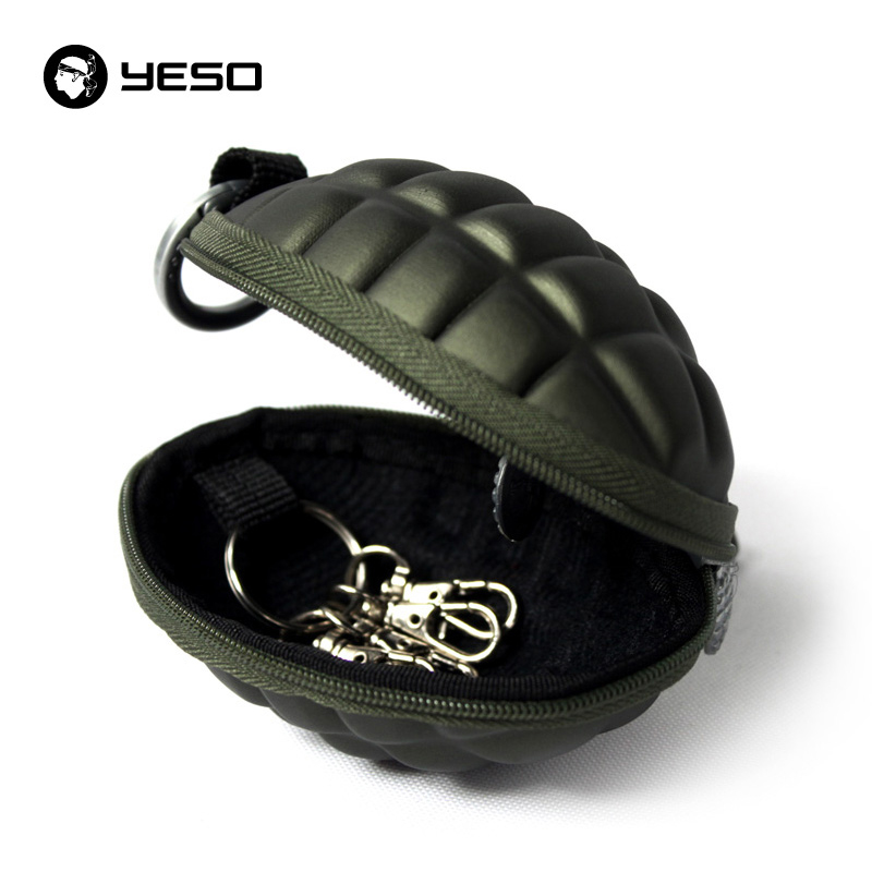 YESO New Arrival PU Men's Key Holder Wallets Unisex Oval Headphone Case Bag Housekeeper For Keys Organizer Purse For Car Key Bag