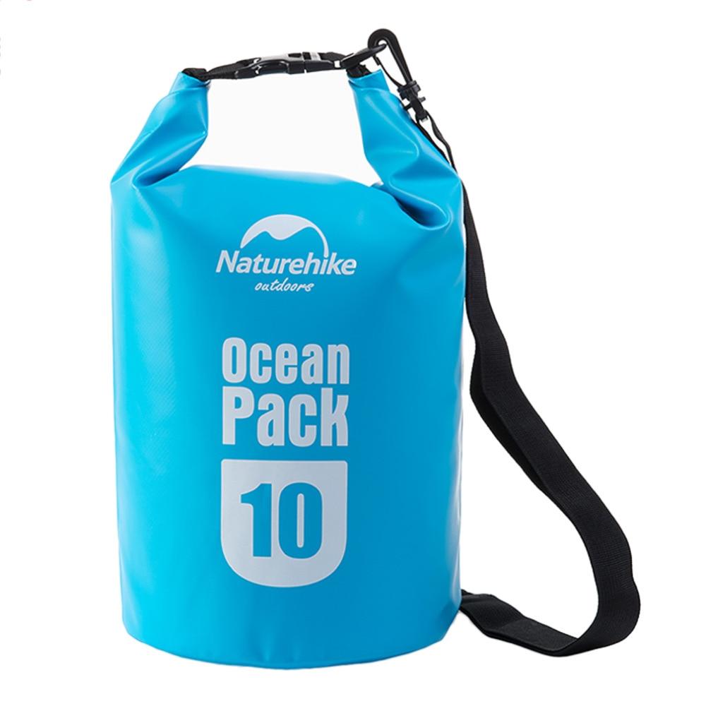 Prix pour NatureHike 10L/20L Multifonctionnel Ultra-Léger 500D océan extérieure Étanche Rafting Sac Sec Sac Pour La Dérive De Natation Camping